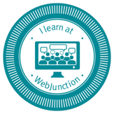 Picture - I learn at Webjunction badge
